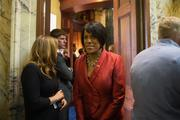 Mayor Stephanie Rawlings-Blake arrives Wednesday for the start of the 2014 legislative session in Annapolis.