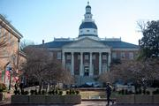 Annapolis prepares for the first day of the 2014 legislative session.