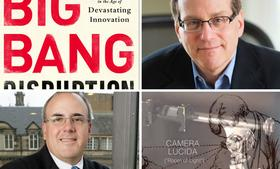 Larry Downes, top right, and Paul Nunes, bottom left, are co-authors of Big Bang Disruption:  Strategy in the Age of Devastating Innovation (Portfolio Hardcover, January 7, 2014). Among the examples they discuss in the book: a new version of the Camera Lucida, below right, which was selling on Kickstarter.