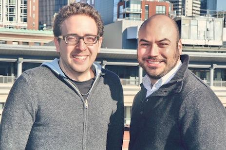 From left, Directr's founders are Eli Schleifer and Max Goldman. On Thursday, the company announced its newest offering, Directr for Business.
