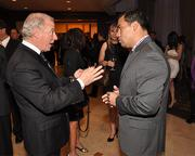 Joseph Iovino of The Options Group and Oscar Ortega of Productiva attended the reception Feb. 20.