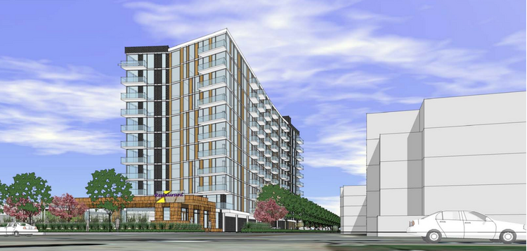 Trammel Crow Co. unveiled renderings of its proposed 11-level apartment building on the north end of Lake Calhoun.