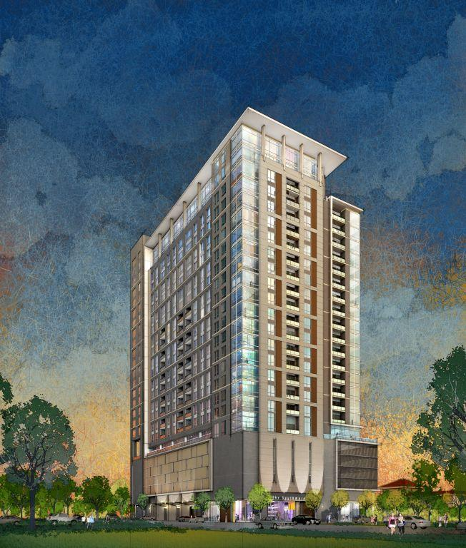 The Southmore, a 25-story multifamily high rise in Houston's Museum District, is being developed by Hines, and slated for completion in 2016.