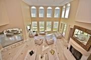 The living room at the luxury oceanfront home on Ponte Vedra Boulevard, listed for sale at $7.9 million.