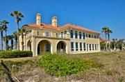 The luxury oceanfront home on Ponte Vedra Boulevard listed for sale at $7.9 million, viewed from the beach.