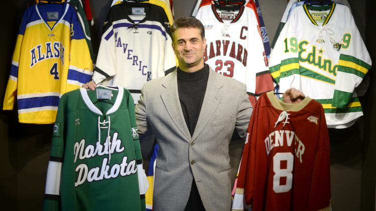 Chris Bonvino, owner of Gemini Athletic Wear, one of the nation's leading manufacturers of hockey jerseys for prep and college teams. He started Project Pay if Forward with his own money to help single mothers and others in need of financial help.
