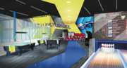 The arcade and bowling entertainment area at I-Drive newest incoming attraction.