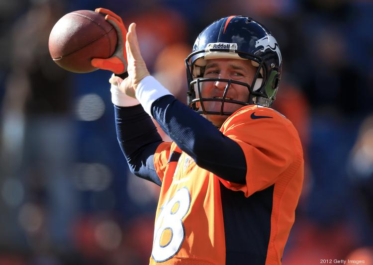 Quarterback Peyton Manning of the Denver Broncos warms up prior to facing the Cleveland Browns at Sports Authority Field at Mile High on Dec. 23, 2012 in Denver. The Broncos defeated the Browns 34-12.