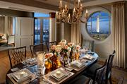 Mandarin Oriental Washington D.C.: Presidential Suite The damage: $15,000 a night The Presidential Suite also includes a leather study so celebrities and dignitaries can work in ultimate style when they're in town.