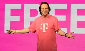 John Legere, CEO of T-Mobile US, inc. speaks at T-Mobile's Un-carrier 4.0 press event on Wednesday, January, 8, 2014 in Las Vegas.