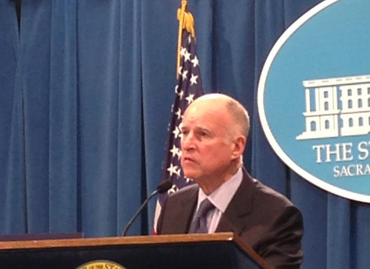Gov. Jerry Brown stressed that there will be no new taxes in the foreseeable future as he introduced his draft budget Thursday morning in Sacramento.