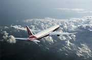 A Boeing rendering of the 777X plane.
