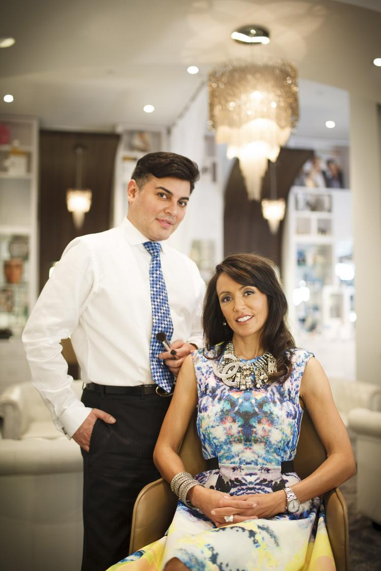 Edward Sanchez and Diane Caplan of Edward Sanchez Vanity Lounge
