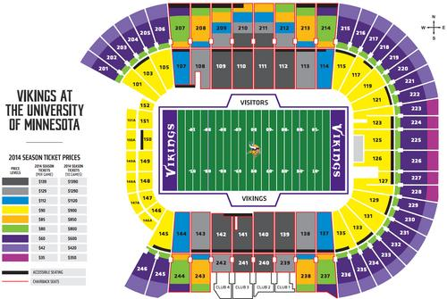 Minnesota Vikings Hike Season Ticket Prices For Tcf Bank