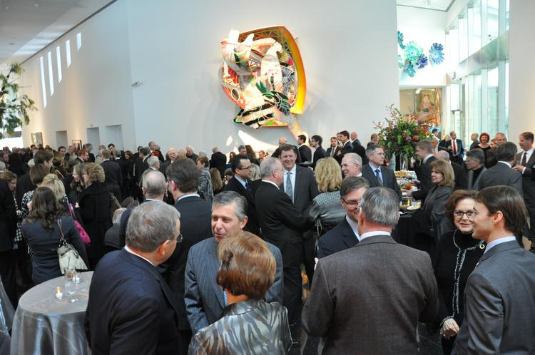 The reception for the late R. Crosby Kemper Jr. was attended by a Who's Who of Kansas City's business and civic community.