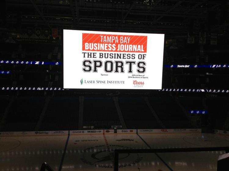 The inaugural Business of Sports event was held Thursday at the Tampa Bay Times Forum.
