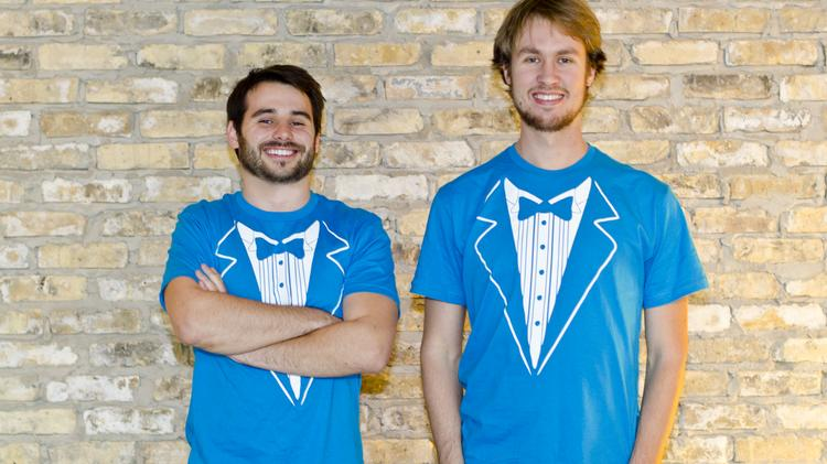 NeighborFavor Inc. founders Zachary Maurais, left, and Ben Doherty