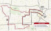 The 26.2 mile and 13.1 mile routes