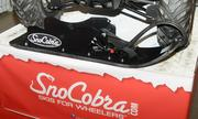 SnoCobra had some of its products on display. The company makes products that turned wheeled vehicles into vehicles with skis.