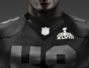 An all-black Super Bowl-edition jersey is designed to mimic on-field apparel.