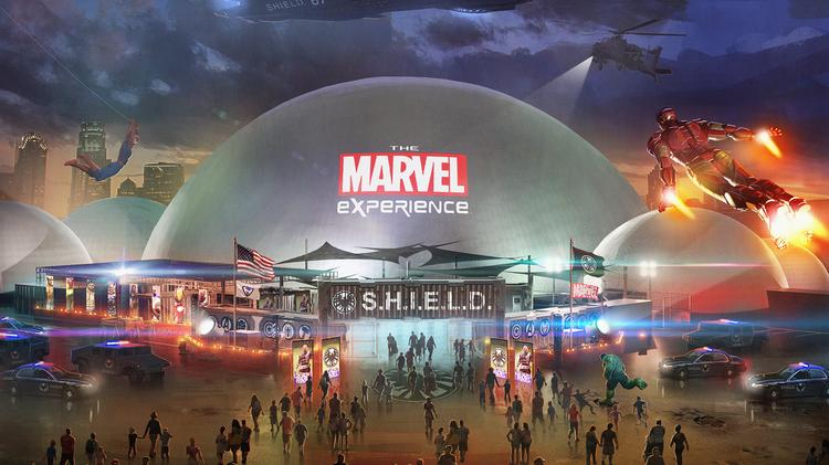 A rendering of one of the domes that will be part of the traveling Marvel Experience.
