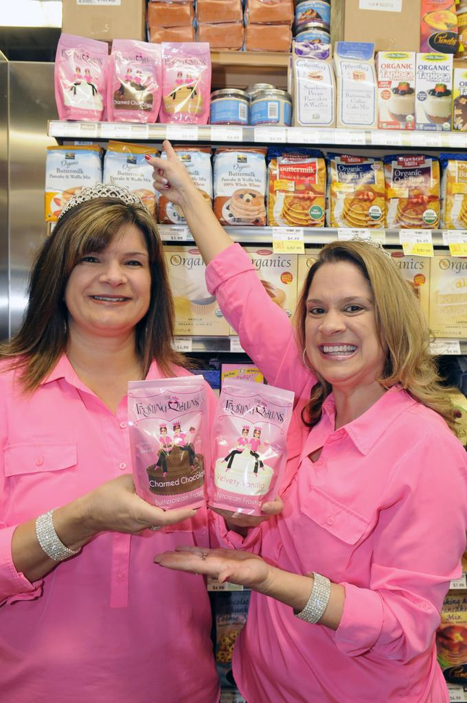 Angela Del Biaggio, left, and Annette Del Biaggio began their frosting line out of a cookie shop in Folsom.