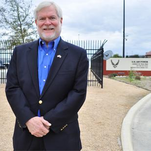 Mark Frye, government program manager for Port San Antonio, says the business park has plenty of room for the military's cyber-security missions to expand.