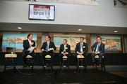 Abraham Madkour, executive editor, Sports Business Journal/Sports Business Daily; Mark Fernandez, senior VP/chief sales officer, Tampa Bay Rays; Doug Woolard, director of intercollegiate athletics, University of South Florida; Brian Ford, COO, Tampa Bay Buccaneers; and Steve Griggs, Tampa Bay Lightning, COO