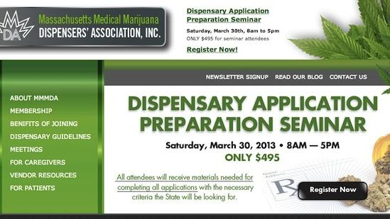 An entity calling itself the Massachusetts Medical Marijuana Association advertised a seminar last weekend for nearly $500. The information on its website holds out false hope for would-be medical marijuana entrepreneurs.