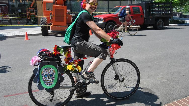 The New Belgium Brewery brings their annualTour de Fatfestival in Durham with a giant bicycle parade and entertainment.
