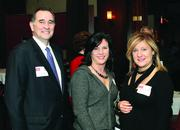 John Moskal of Aon Risk Solutions, Angela Alfonso, center, of RRC Consulting Group and Mary Beth Tomich of SEI.