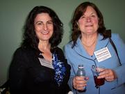 Paula Dalotto (left) of Nano Zone Technologies in Altamont and Deborah Herrin of Exit Elite Realty Group in Clifton Park were among the nanoconference's 200 registrants.