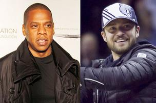 Jay-Z, left, and Justin Timberlake will play in a joint concert Aug. 8 at M&T Bank Stadium.
