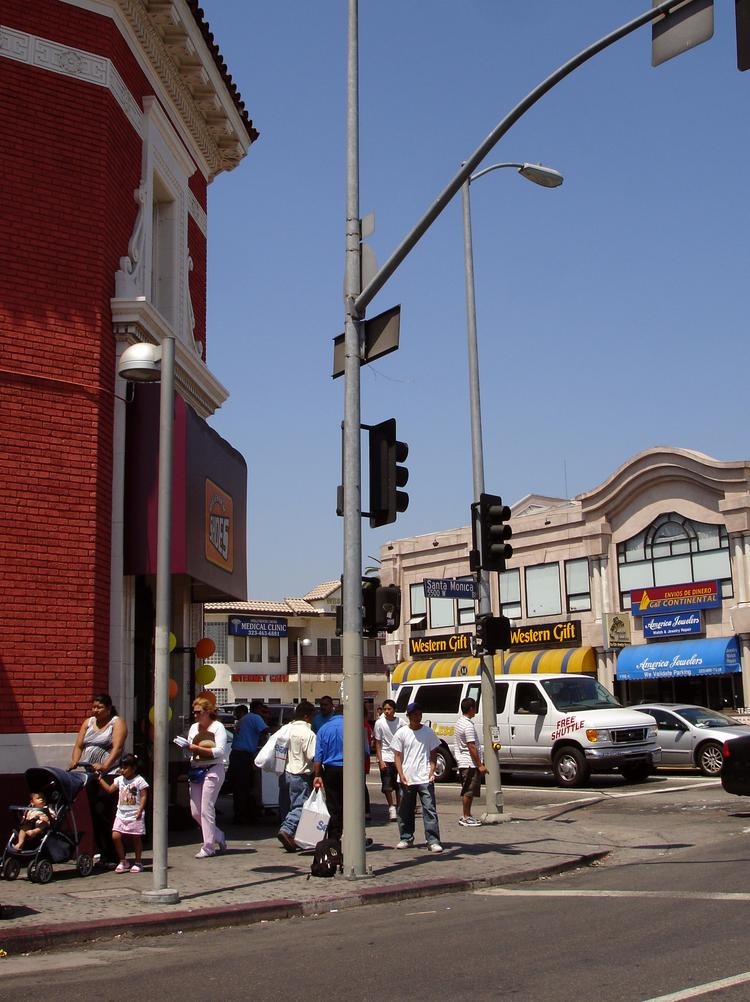 The corner of Western Ave. and Santa Monica Blvd. is within the Los Angeles Promise Zone.