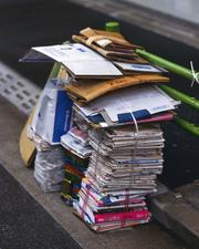 Trash type: Paper, cardboard Percentage of landfill waste: 29.2% (Mixed office paper can sell for $44 a ton; corrugated cardboard for $140 a ton)