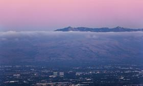 San Jose, the heart of Silicon Valley, seen from above.