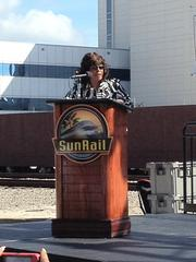 U.S. Rep. Corrine Brown said an FTA study showed 10,800 SunRail construction jobs will be generated and transit-related corridor development will result in an estimated 150,000 jobs in the future.