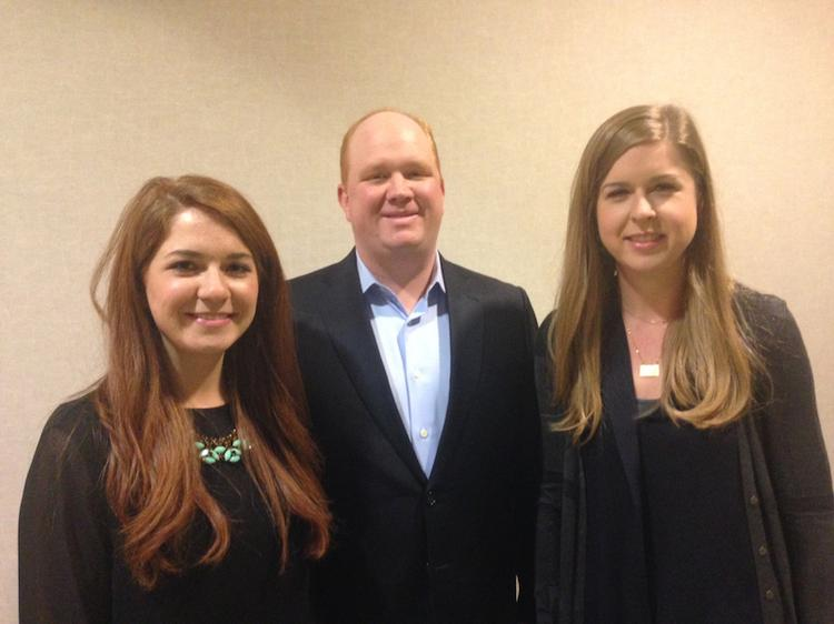 The franchisee team that will open Uncle Maddio's Pizza Joints in Austin and other Texas locations includes Emily Stephens (left), Stewart Geyer and Janie Stephens.