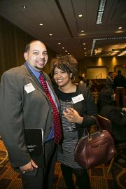 Sean Lowe of Northwestern Mutual and Crystal Morgan of the Alliance for Children and Families