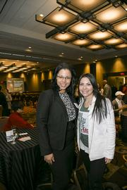 (From left) Rayna Andrews of Milwaukee County, and Griselda Aldrete of the Hispanic Professionals of Greater Milwaukee