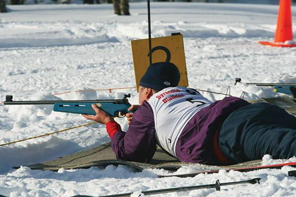 Gun-rights advocates include Buffalo attorney Charles Swanekamp, above, a regular competitor in biathlons. He says New York's SAFE Act is unconstitutional.