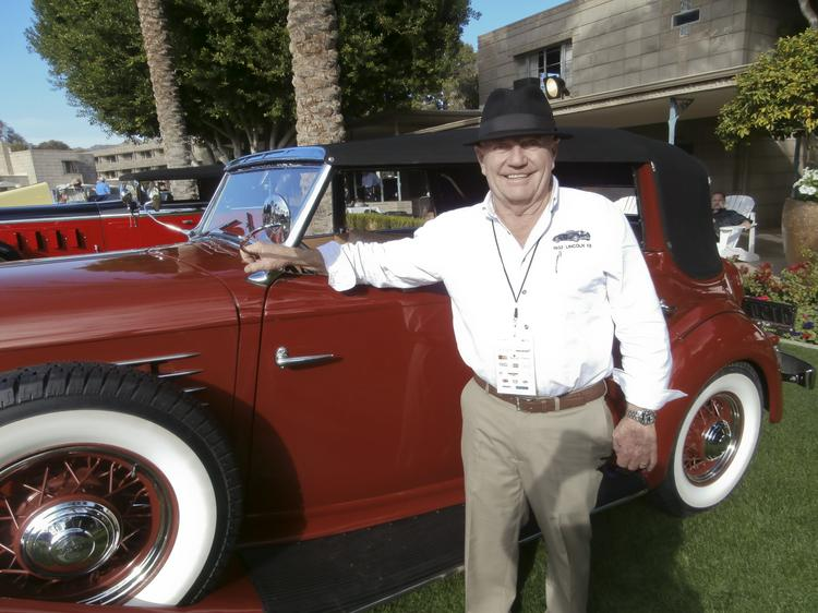 """Dale Lillard, president of Lansdale Semiconductor Inc., entered his 1935 Auburn 851 Phaeton, which took the second-place trophy in the """"Full Classic American Open"""" class. His father restored it -- and yes, he drives it."""