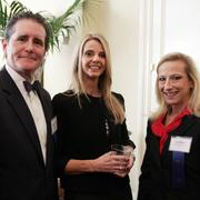 Michael Puryear (left)  and Julia W. Mann (far right) are two of the 15 honorees for Outstanding Lawyers Awards. Puryear's wife is center.