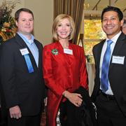 Nathan Roach (left) stands with Sandee Marion and Stephen Aguilar. Roach was named a Rising Star in the San Antonio Business Journal's Outstanding Lawyers Awards.