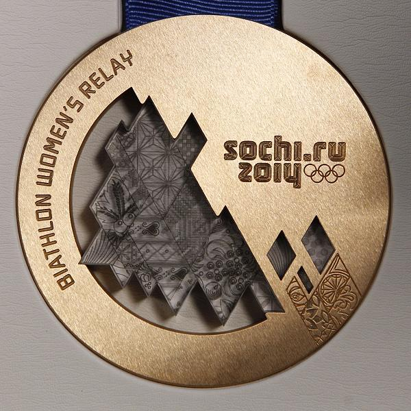 A bronze medal for the Sochi games.