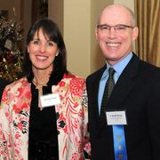 Jennifer Rose with Jackson Walker's J. Scott Rose, who was named the San Antonio Business Journal's Outstanding Bankruptcy Lawyer.