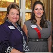 Heidi Heistrom and Jenny Cook at the San Antonio Business Journal's Outstanding Lawyers Awards luncheon on Dec. 11, 2013.