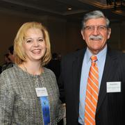 Gail Jensen (left), the University of Texas at San Antonio's legal counsel, is one of the 2013 Winners of the San Antonio Business Journal's Outstanding Lawyer Awards. She stands with UTSA President Ricardo Romo.