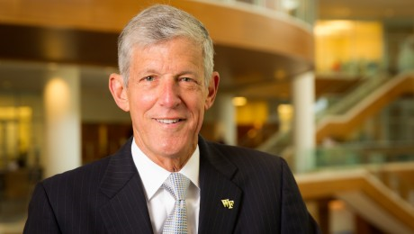 Steve Reinemund has announced he will step down as dean of the Wake Forest School of Business in June 2014.