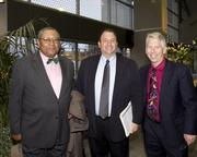 Sacramento Housing and Redevelopment Agency commissioner Louis Morton, Alcalay Communications CEO and MLK celebration event producer Michael Alcalay, Sacramento News & Review president and CEO Jeff vonKaenel pose at the annual Martin Luther King Jr. dinner.